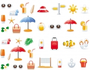 Summer travel vector icons